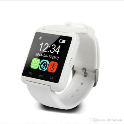 Wonder World ™ U8 Pebble™ Bluetooth mobile Cell phone White Smartwatch(White Strap Regular)