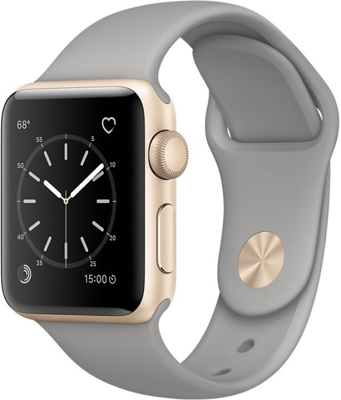 Apple Watch Series 1 - 38 mm Gold Aluminium Case with Concrete Sport Band(Grey Strap Medium)