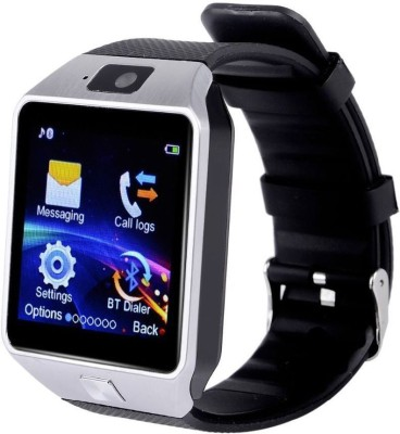 Wonder World ® DZ-09 Bluetooth Mobile With GSM SIM Card & Camera Silver Smartwatch(Silver Strap Regular) at flipkart