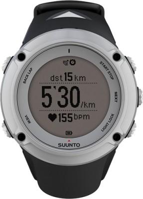 Suunto SS019651000 Ambit2 HR Digital Silver Smartwatch(Black Strap)