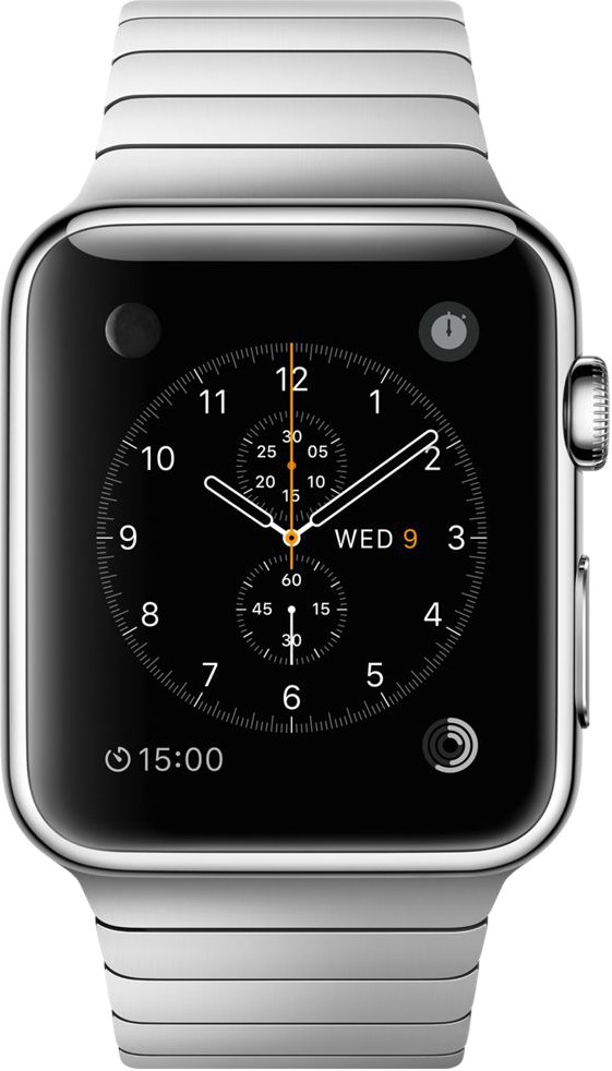 Apple Watch 42 mm Stainless Steel Case with Link Bracelet(Grey Strap Medium)