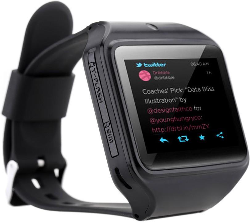 Kenxinda 2 Smartwatch(Black Strap Regular)