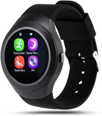 Bingo C5 Black Full Disc Touch With Bluetooth and SIM Enabling Feature Smartwatch