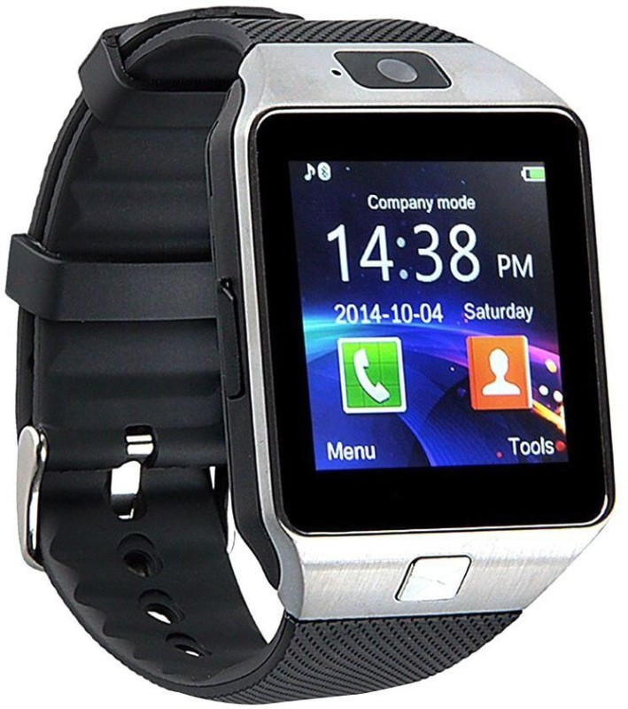 Bingo T30 Silver With Sim And 32 GB Memory Card Slot And Fitness Tracker Smartwatch(Black Strap Regular)