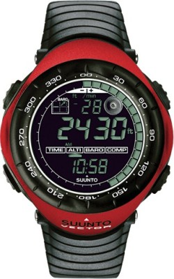 Suunto SS011516400 Vector Digital Black & Red Smartwatch