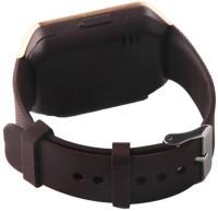 Influx ® Bluetooth SIM Card Slot Make Phone Calls 2.0 MP Camera DZ09 Gold Smartwatch(Black Strap Regular)