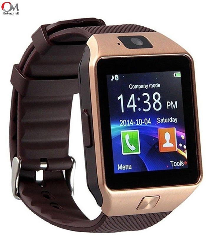 om enterprise WS02 Smartwatch(Brown Strap Regular)