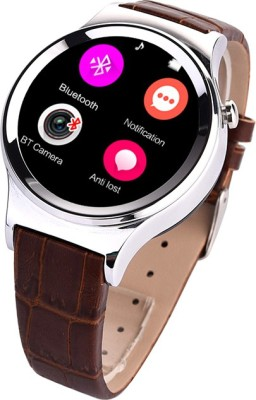 Bingo T20 Silver Round Stylish Android IOS Compatible Bluetooth Notification Smartwatch