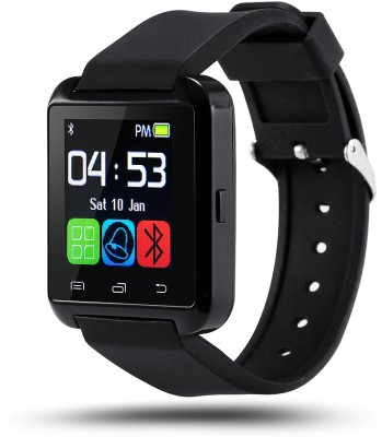 Wokit U8 Black Smartwatch(Black Strap Regular) at flipkart