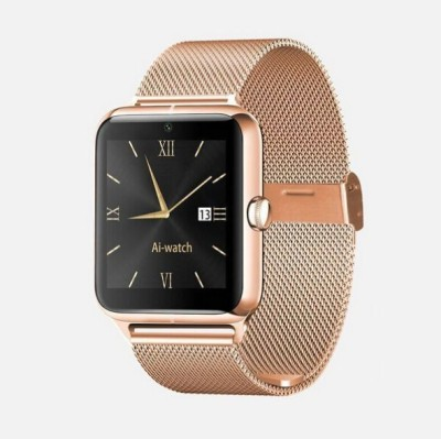 Maya Smart Watch with heart rate Smartwatch(Gold Strap)