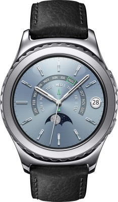 SAMSUNG Gear S2 Classic Platinum Smartwatch(Black Strap Regular) at flipkart
