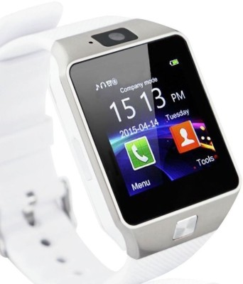 KMS With Sim, Memorycard slot, Bluetooth and Fitness tracker Silver Smartwatch
