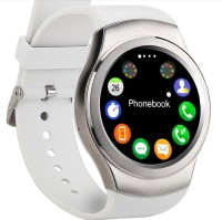 OUTSMART CSTX3 with Heart Rate Sensor, SIM Card, Fitness Tracker and Bluetooth Smartwatch(White Strap Regular)