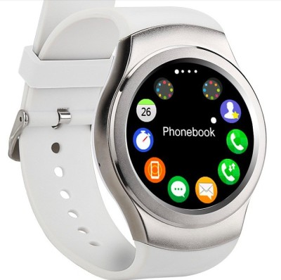 OUTSMART CSTX3 with Heart Rate Sensor, SIM Card, Fitness Tracker and Bluetooth Smartwatch(White Strap)