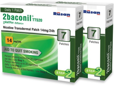 2baconil 14 mg - 2 Packs 24 hour patch Smoking Patch(Pack of 14)