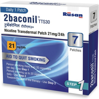 2baconil 21mg 24 hour patch Smoking Patch(Pack of 7)