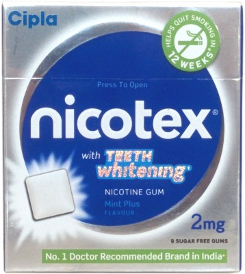 Nicotex 2mg Teeth Whitening Nicotine Gum Pack 6 16 hour patch Smoking Patch