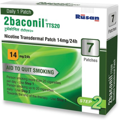 2baconil 14mg 24 hour patch Smoking Patch(Pack of 7)