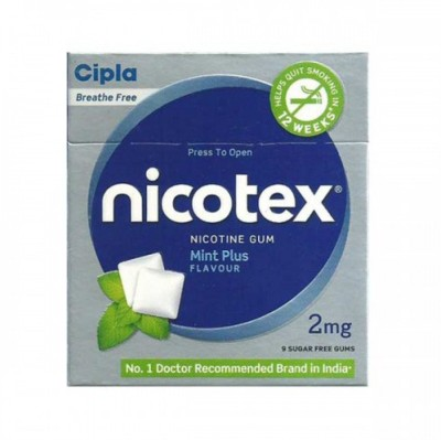 Cipla Nicotex 2mg Mint Plus Flavour (Pac...