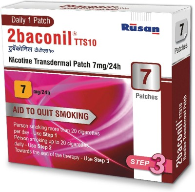 2baconil 7mg 24 hour patch Smoking Patch(Pack of 7)