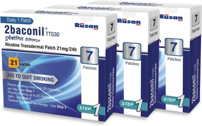2baconil 21 mg - 3 Packs 24 hour patch Smoking Patch(Pack of 21)