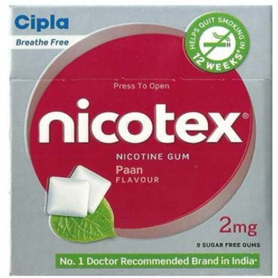 Cipla Nicotex 2mg Paan Flavour Nicotine Gum 16 hour patch Smoking Patch(Pack of 90)