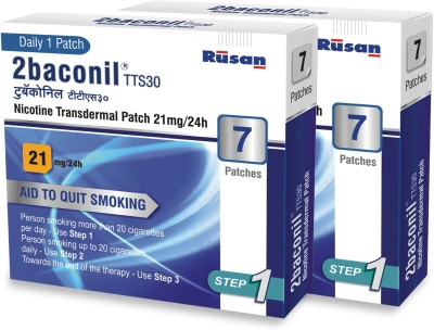 2baconil 21 mg - 2 Packs 24 hour patch Smoking Patch(Pack of 14)