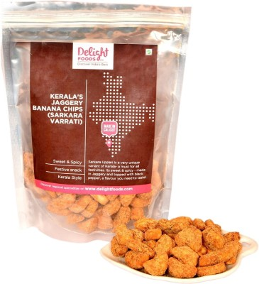 Delight Foods Kerala Jaggery Banana Chips (Sarkara Varrati) Ada(500, Pack of 2)