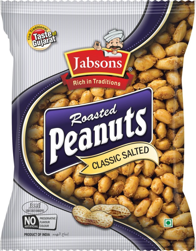 Jabsons RoastedPeanutClassic Salted Farsan(160, Pack of 1)