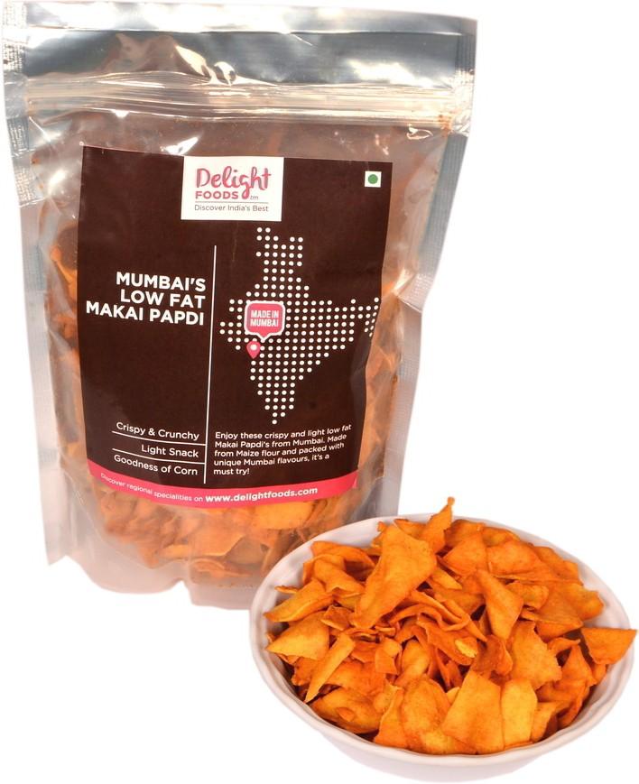 Delight Foods Mumbai Low fat Makai Papdi Mixture