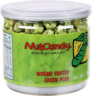 Nut Candy Wasabi Coated Green Peas Peas(170, Pack of 1)