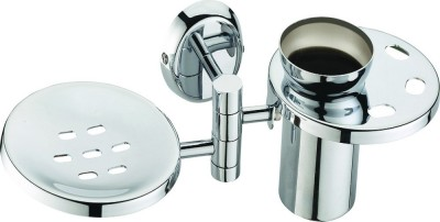 Skayline Movable Soap Dish with Toothbrush Holder