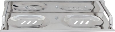 Dolphy Stainless Steel 2 in 1 Soap Dish