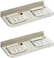 Doyours 2 Pieces Double Soap Dishes(Steel)