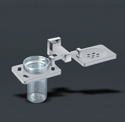 Decowell Soap Dish with Toothbrush Holder