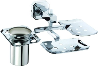 Skayline Double Soap Dish with Toothbrush Holder