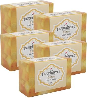 Purenaturals Chunks Soap Saffron - 125g (Set of 5)