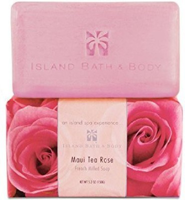 Welcome to the Islands Island Bath & Body Maui Tea Rose French-Milled Soap