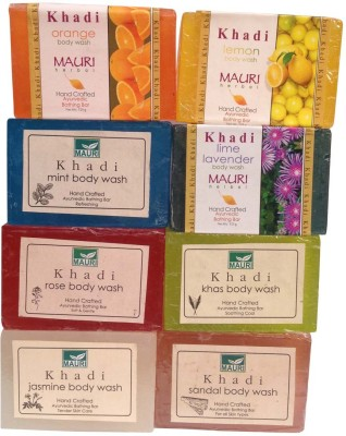 Khadimauri Herbal Soaps Assorted Pack of 8 Ayurvedic Natural Summer Care