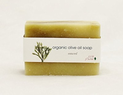 100% Pure Organic Olive Oil Soap Seaweed