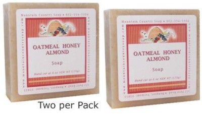 Mountain Country Soap Oatmeal Honey Almond Natural Olive Soap - Pack of 2
