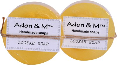 Aden & M Lime Loofah Soap - Pack of 2