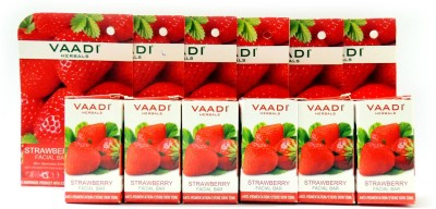 Vaadi Herbals Strawberry Facial Bars with Almond Oil & Grape Seed Extracts - Pack of 6
