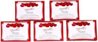 Satinance Rose Bathing Bar 75gm - Pack of 5