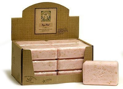 Pre De Provence Case of 12 bars Rose Petal Shea Butter Enriched Triple Milled Soap