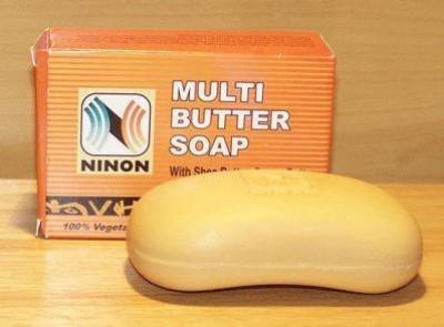 NINON Multi Butter Soap with Shea Butter Cocoa Butter Mango Butter & Vitamin E - 6 Pack