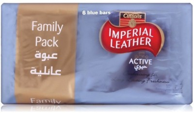 Imperial Leather Cussons Active Luxuriously Family Soap Bars ( pack of 6 )