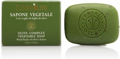 Erbario Toscano Organic Tuscan Olive Soap with Olive Leaves