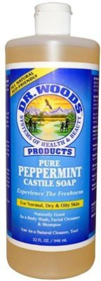 Dr. Woods Naturals Peppermint Castile Soap (3 Pack)