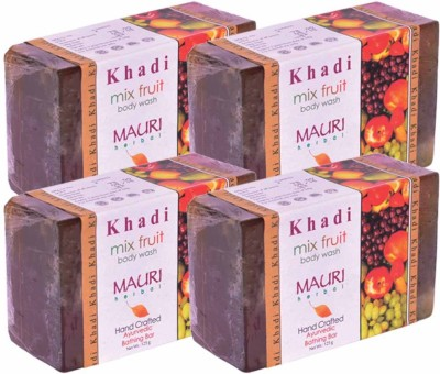 Khadimauri Mix Fruit Soap - Pack of 4 - Premium Handcrafted Herbal